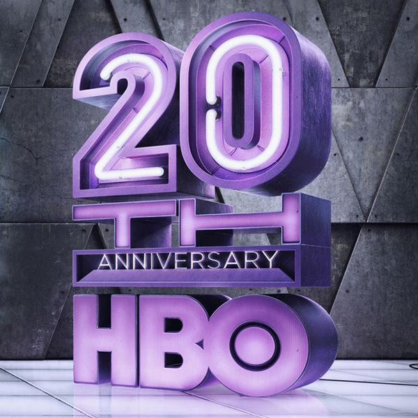 HBO - 20th Anniversary by Peter Jaworowski, via Behance - 3D Typography Design Modelling