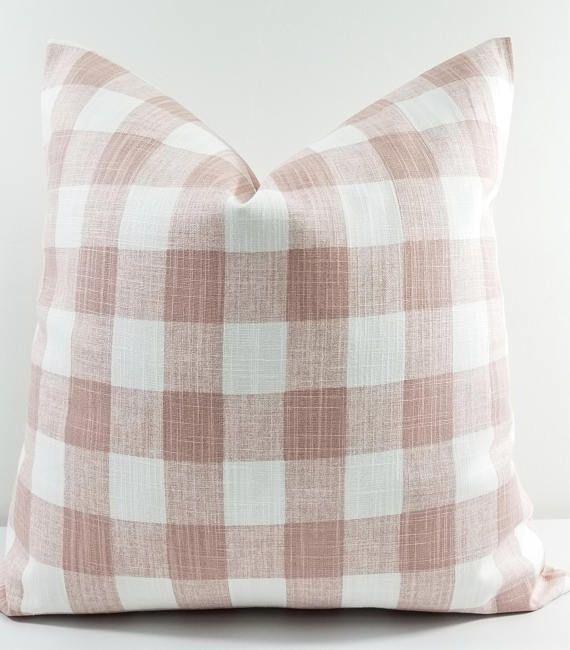 White Cotton Canvas Throw Pillow with
