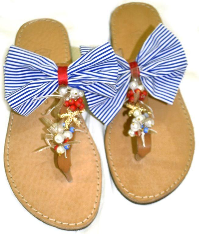 navy sandals Lne's artwork