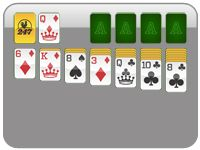 Solitaire is usually played with one, or two standard 52-card decks shuffled together. A few games use non-standard or cut decks. The objective of solitaire game is typically to sort the pack of cards into order in accordance with particular rules of play. Player wins if the sorting is successful.