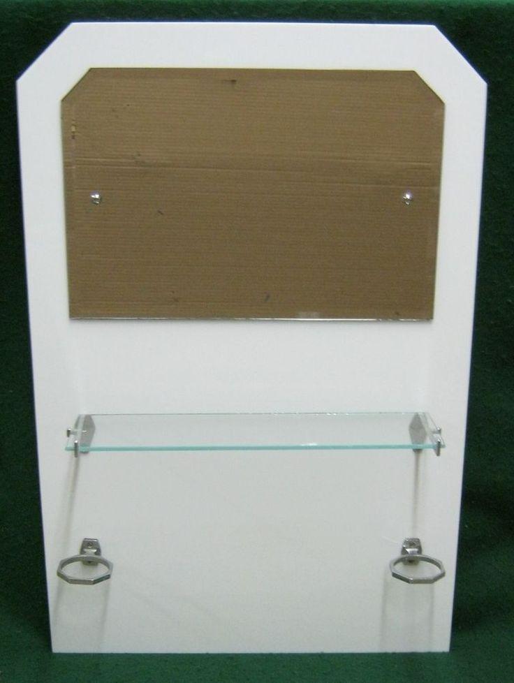 Awesome Websites Vintage Art Deco Set Bathroom Mirror Glass Shelf Cup Holder Antique