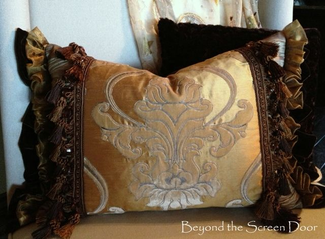 Luscious Master Bedroom Pillow | Beyond the Screen Door