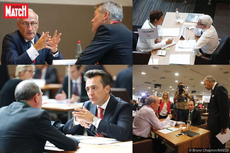 Les ambassadeurs français ont rencontré des chefs d'entreprise mardi à Paris - photographies de Bruno Chapiron