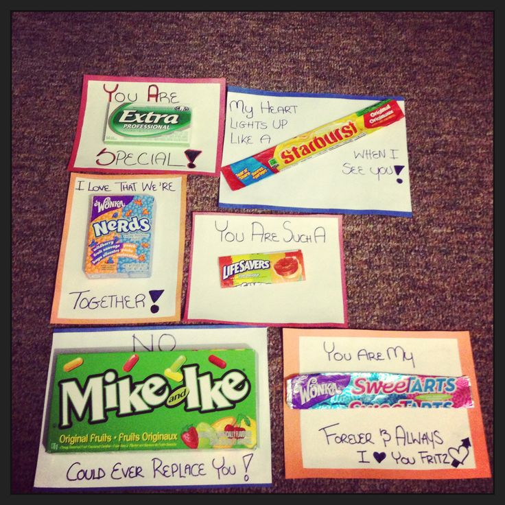Homemade Gifts For Your Bf Candy Sayings Pinterest