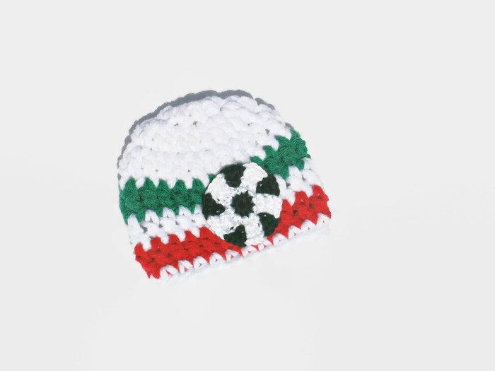 Newborn Soccer Hat, Baby Boy Soccer Hat, Italy Soccer Hat, Infant Boy Hat, Newborn Photo Prop, Baby Shower Gift by DeesCozyCreations on Etsy
