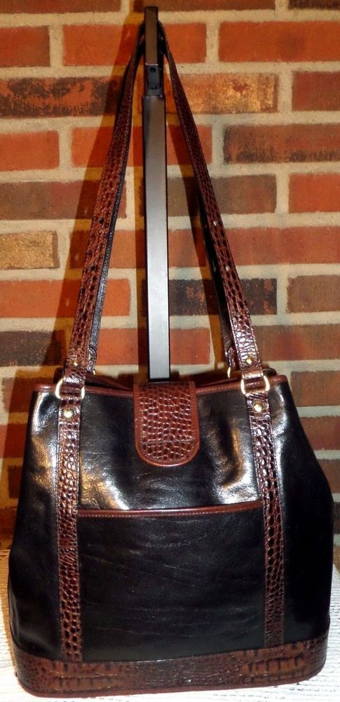 Brahmin Tuscan Collection Leather Shoulder Hobo Tote Satchel Bucket Purse Bag My Designer Eyes For You Trendy Handbags And Clothes