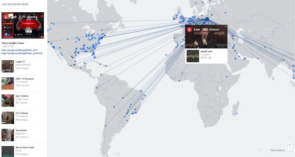 facebook live interactive map