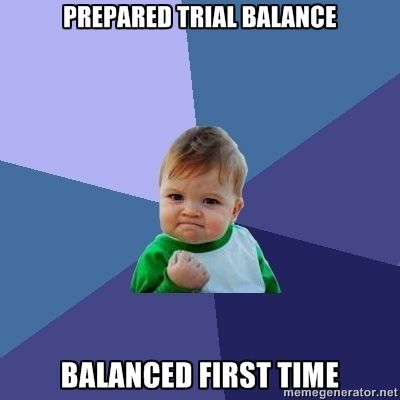 Balancing the first time!  Okay, small child - now try it with a Statement of Cash Flows.
