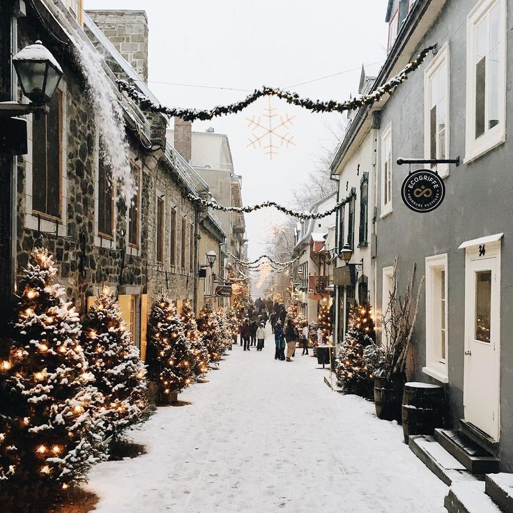 Don't know where this is but same vibes as Quebec City in the winter, so magical!