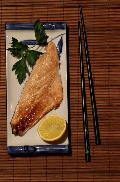 Grilled Salmon in Soy-Butter