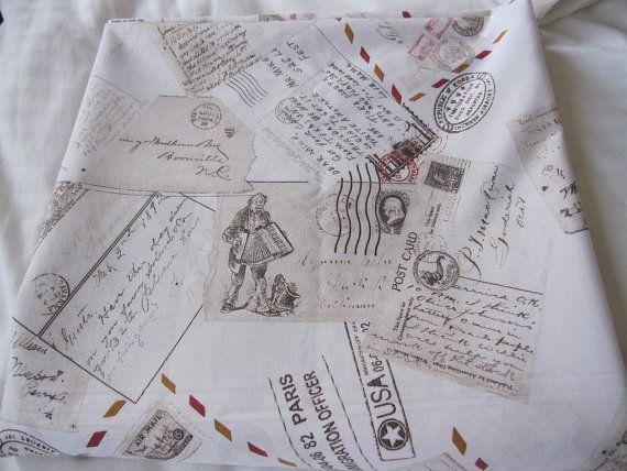 Duvet cover king/queen/full/Twin XL Post card Pastel beige orange gray letter stamp writing book bedding -men's boy's college dorm bedding