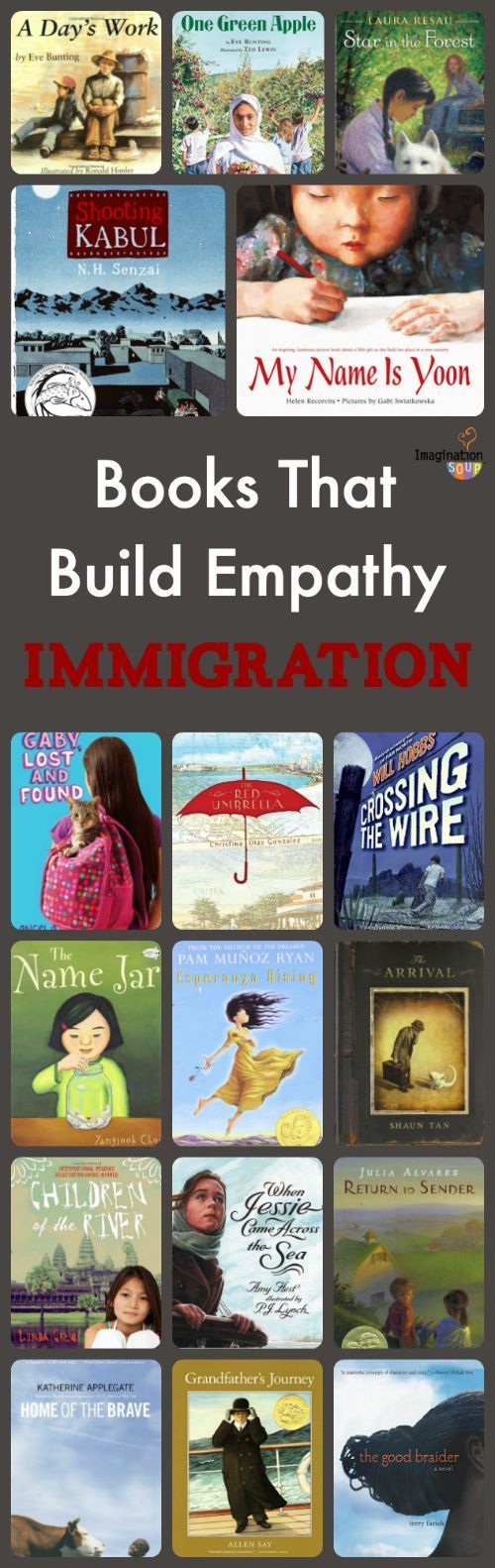 children's books about immigration -- walk a mile in someone else's shoes!