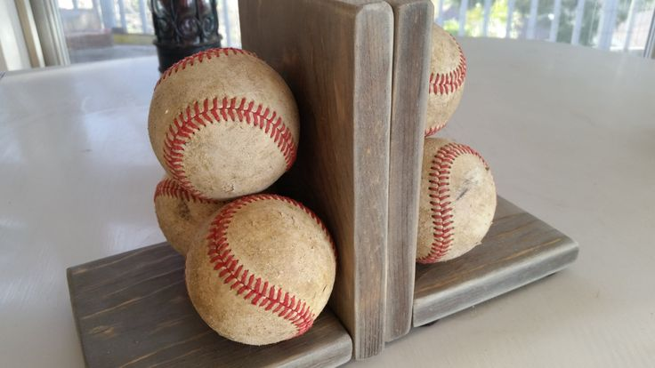 Rustic Baseball Bookends! (pair) by KimberlyDesign4you on Etsy