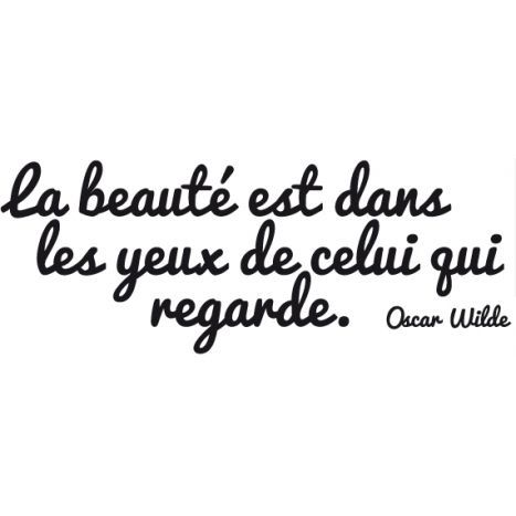 cool Citation - Stickers citation - La beauté - Citation d'Oscar Wilde à 9.95€