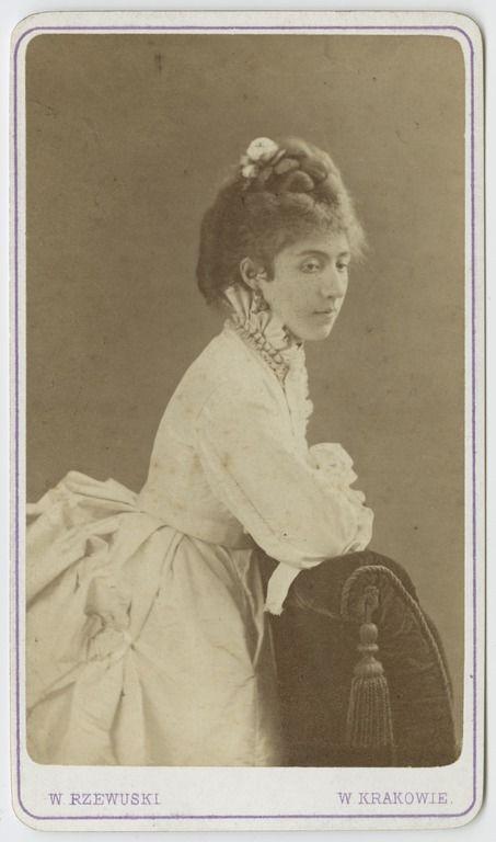 Walery Rzewuski, Portret Antoniny Walewskiej, 1874