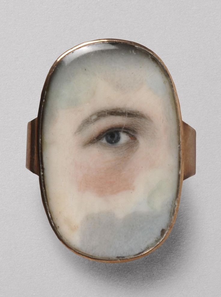 Philadelphia Museum of Art - Collections Object : Portrait of a Right Eye - ring Circa 1800, watercolor on ivory.