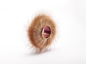 Jewellery by contemporary artists :: Collection :: Meret Oppenheim :: Fur Ring | GEMS AND LADDERS