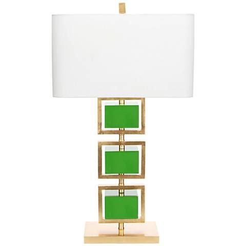 Couture Coventry Gold Leaf and Kelly Green Table Lamp - #38J19 | Lamps Plus