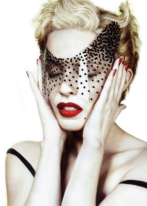 Kylie Minogue - amazing masquerade mask