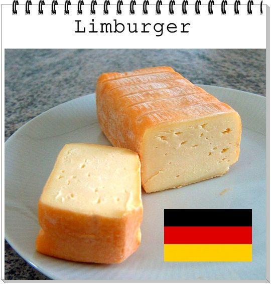 QUEIJO:  Limburger-Käse ALEMANHA :Bayen LEITE: Vaca CL ASSIFICAÇÃO :Semimacio