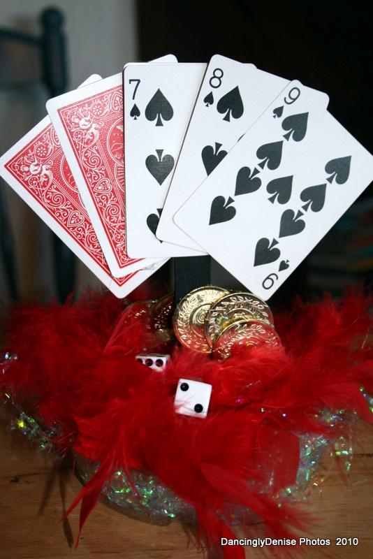 Table centerpieces casino prom theme pinterest