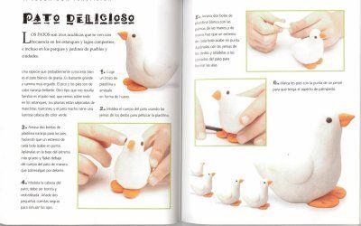 Modelar plastilina - patos