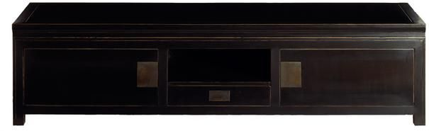 Hanoi Black Lacquer Oriental Large TV Table
