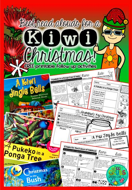 Best Kiwi Christmas Read Alouds! + FREE Printable follow up activity sheets {Green Grubs Garden Club Blog}