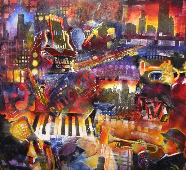 Blues Music Art Chicago Contemporary Art Chicago