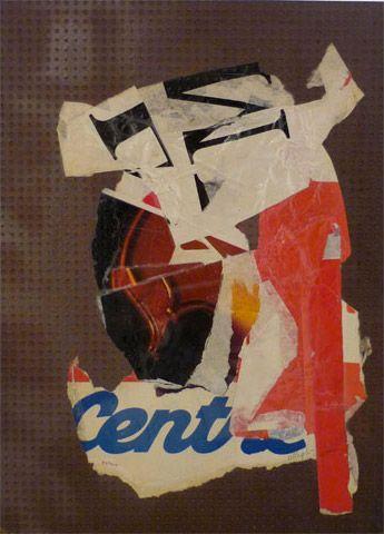 UNTITLED | villegle Arrachage et collage d'affiches sur isorel n°: villeglé-0312-007-2M5