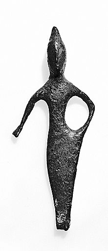 Figure of a Goddess, 500 BC-300 BC      Sculpture      Italic, 5th-4th centuries BC      Bronze      Overall: 7.7 cm (3 1/16 in.)       Creation Place: Umbria, Europe      Harvard Art Museums/Arthur M. Sackler Museum,