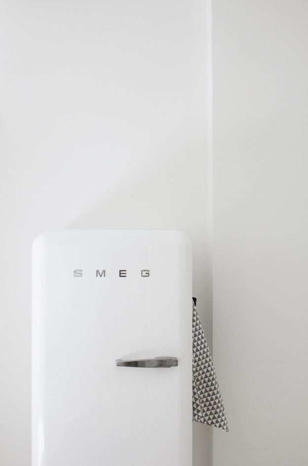 I've always wanted a SMEG fridge in a fun color like green, red or turquoise....