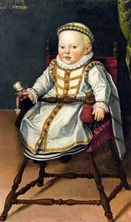 1577 Portrait of Archduchess Catherine Renata of Austria. | Children with Dolls 16C - 18C
