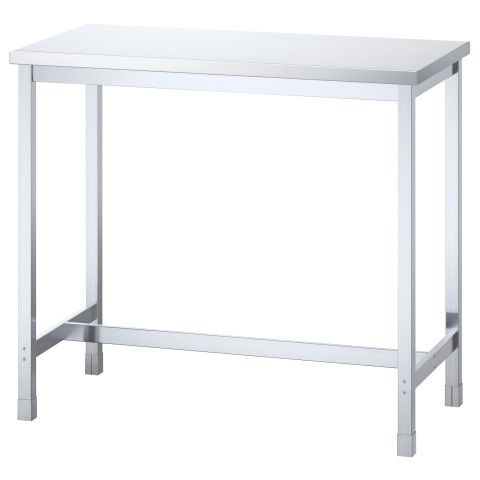 UTBY Bar table - stainless steel - IKEA