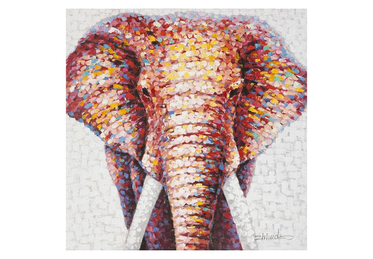 Struktur-Wandbild Elefantenkopf I