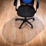 #8: Polycarbonat Bodenschutzmatte | transparent, oval | für Hartböden (Parkett, Laminat, Fliesen, Kork, Vinyl, etc.) - http://www.xn--brombel-profi-lmb0g.com/buerostuehle/8-polycarbonat-bodenschutzmatte-transparent-oval-fur-hartboden-parkett-laminat-fliesen-kork-vinyl-etc