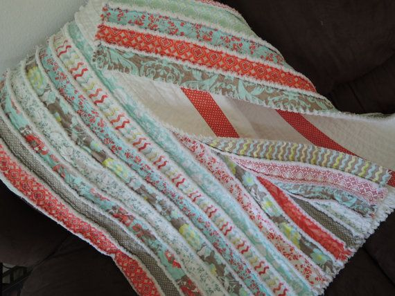 Jelly Roll Rag Quilt  Pattern Tutorial, Easy to Make, Instant download pdf. file
