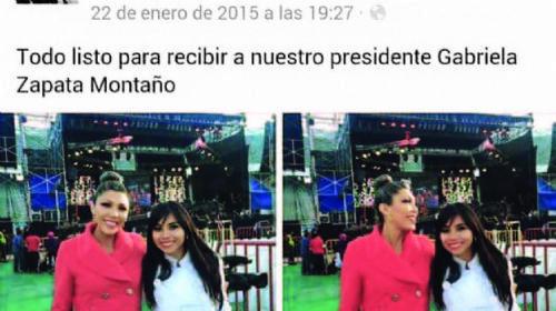 Redes sociales muestran a Gabriela Zapata cercana a Evo Morales tras 2007