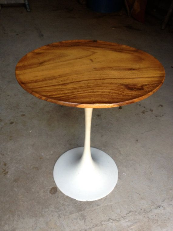 Bon Saarinen Style Tulip Table Hard Wood Top Knoll Burke
