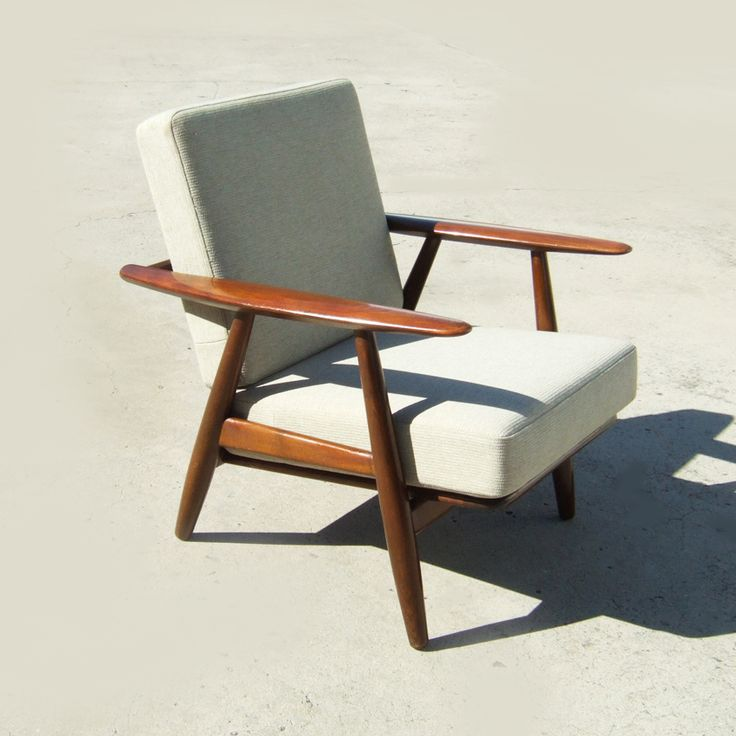 A10  Wegner Cigar Chair   Vintage Danish Furniture   Rarely Available In  Dark Oak Finish