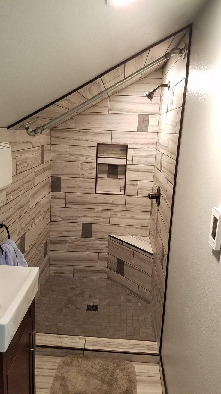 Breathtaking Attic | Sloped ceiling bathroom, Attic ...