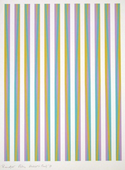 Bridget Riley. She is a genius with colour.
