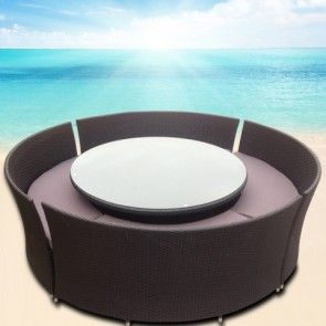 Massive Round Outdoor Dining Set (sits up to 12) Rattan Wicker Furniture