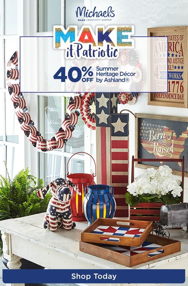Stock Up On Stars And Stripes With Off Classic Americana Home D Cor Easily Set The Scene This Memorial Day And All Summer Long With Must Haves In Red