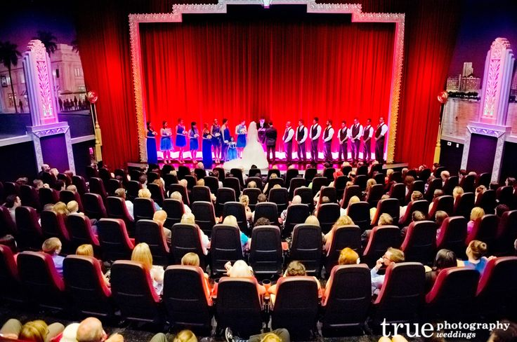 A Movie Theatre Wedding Ceremony at the Village Theatre in Coronado / follow @True Photography Weddings