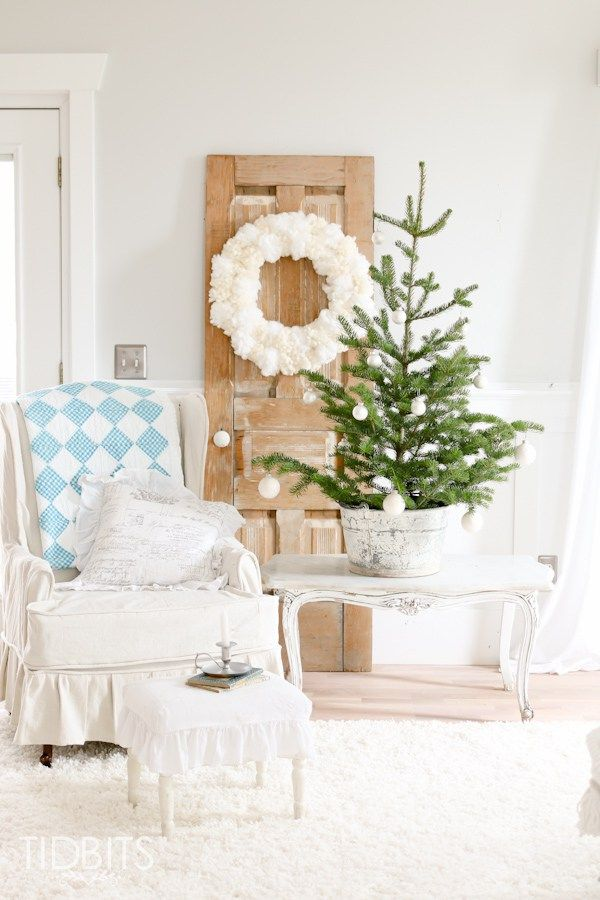 French Farmhouse Christmas Home Tour In The Living Room
