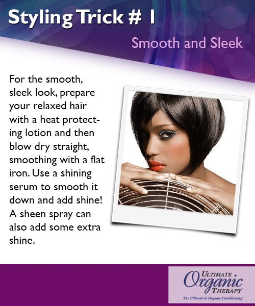 Getting beautifully smooth and sleek hair isn't so difficult - try this styling trick!