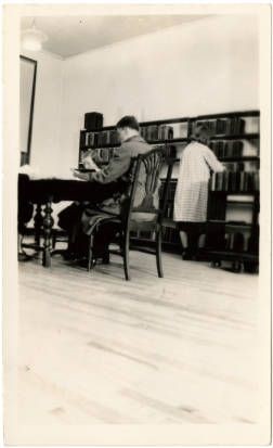 High Quality Caldwell County Lenoir Library. Man Seated At Table, 1938. State Library  History Collection