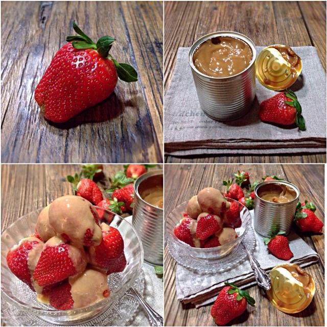 Market is full to strawberries,but I have no time to make cake or tart with them,instead I have something that we could eat with them. Strawberries are usually eaten with condensed milk(練乳) in Japan,I have taken it further,this dulce de leche is from South America, basically a caramelized condense m - 463件のもぐもぐ - Strawberries with dulce de leche/イチゴ、ドゥルセ·デ·レチェ by rick chan