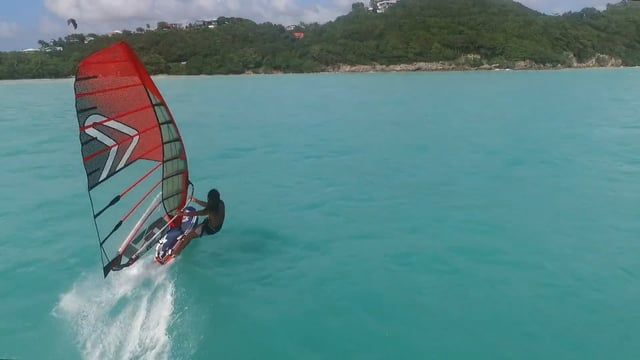 A nice windsurf session for the first day of 2017, the best way to start this year!  Location : Guadeloupe F.W.I  Rider : Bruno KANCEL Pilot : Olivier KANCEL (Aeroworx) Edit : Matteo Nattivelle Gear : Isonic 110 + Severne Reflex7 / 7.8